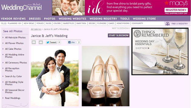 Featured on WeddingChannel.com AND IDoVenues.com :: JANICE + JEFF