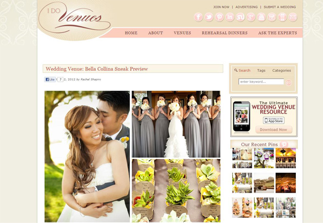 Featured on IDoVenues.com :: Melissa + Sam!!