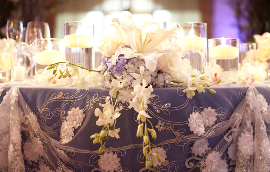 Terranea Wedding, Henry Chen Photography, Sweetheart Table Lace Overlay