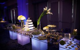 Ritz Carlton Laguna Niguel Wedding, Stephen Cheng, Blue Reception, Dessert Table