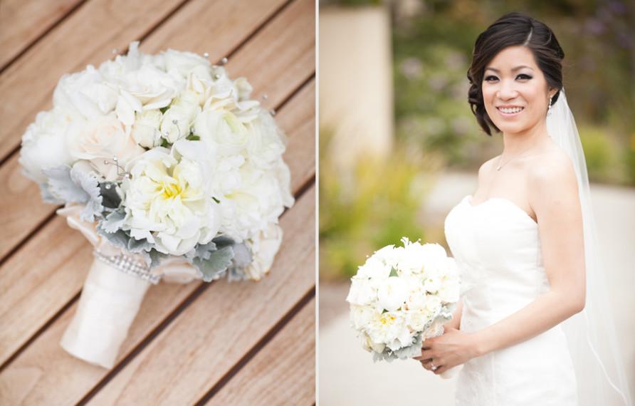 Terranea Wedding, Henry Chen Photography, Bridal Bouquet, Wenfloral