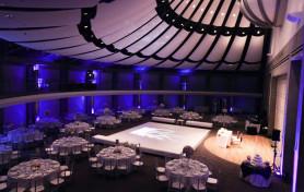 Skirball Cultural Center Wedding, Ja Tecson, Blue Reception