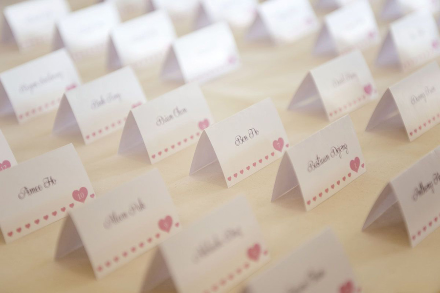 Hyatt Huntington Beach Wedding By John Park Escort Cards ME - Wedding table tents