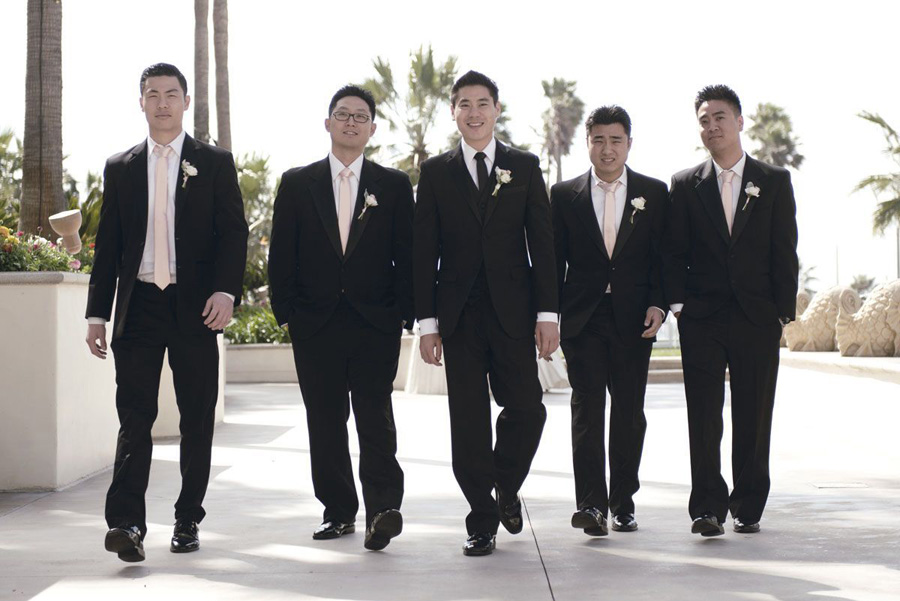 attractive style size 40 wide varieties Hyatt Huntington Beach Wedding by John Park 8 Groomsmen | ME ...