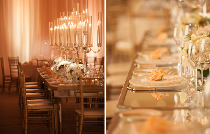 14-pelican-hill-wedding-by-kim-le-reception-details-long-mirrored-tables-892x594